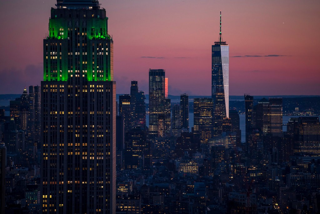 NY Picture of Freedom Tower and Empire State Building