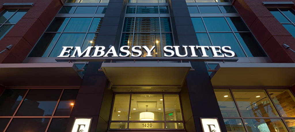 embassy suites up from street level